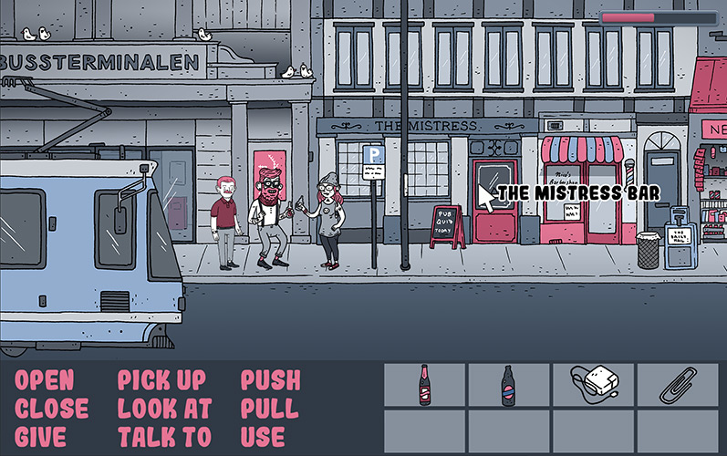 Screenshot of the game: the dude on the streets
